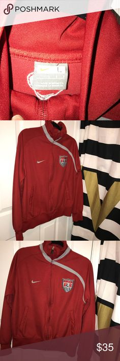 Nike is US soccer team warm up jacket. Size L. Athleisure trend. Size L. Nike. US soccer team. Make and offer. Jackets & Coats