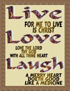 Live Love Laugh - What kind of legacy are you leaving your children?