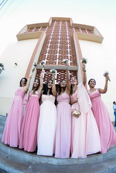 Damas de honor rosa pastel