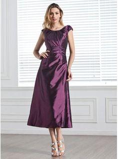 Bridesmaid Dresses - $114.99 - A-Line/Princess Scoop Neck Tea-Length Taffeta Bridesmaid Dress With Ruffle Beading Sequins  http://www.dressfirst.com/A-Line-Princess-Scoop-Neck-Tea-Length-Taffeta-Bridesmaid-Dress-With-Ruffle-Beading-Sequins-007005303-g5303