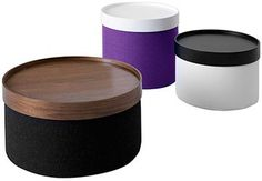 Softline Drums Pouf range incorporates a clever drum shaped design available in 3 sizes. The Drums Pouf come in different fabrics and can be bought with or without the trays. The Softline Drums can be used as a Pouf or Coffee Table and the tray secti Karim Rashid, Stylish Coffee Table, Coffee Tables, Round Ottoman, Luminaire Design, Deco Design, Pop Design, Extra Seating, Classic Furniture