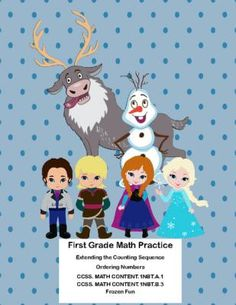 First Grade Math Practice-Counting and Ordering Numbers-Frozen Fun from Mrs. Mc's Shop on TeachersNotebook.com -  (17 pages)  - This collection of printable worksheets addresses  Extending the Counting Sequence and Ordering Numbers. Aligned with: CCSS. MATH CONTENT.1NBT.A.1 CCSS. MATH CONTENT.1NBT.B.3
