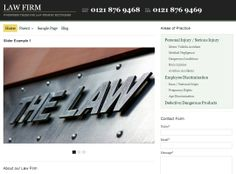 Law-Firm - sort your site by areas of practice