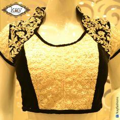 Order for similar designer blouse at… Choli Designs, Sari Blouse Designs, Blouse Styles, Indian Blouse, Indian Wear, Saree Jackets, Neckline Designs, Blouse Models, Beautiful Blouses