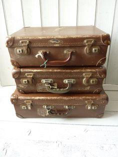 Vintage Antler Suitcase/1970's Suitcase/Vintage Antler Luggage ...