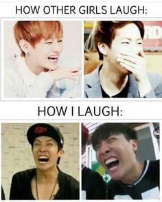 For everytime i laugh, it really sounds like jin's windshield laugh