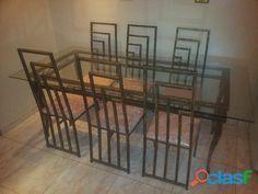 Mesa de jantar e cadeiras ( estilo contemporâneo ) trocas whats : 97497 1700