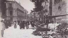 Murcia. Mercado de Santo Domingo y casa de Melgarejo, en donde vivió y murió Andrés Baquero