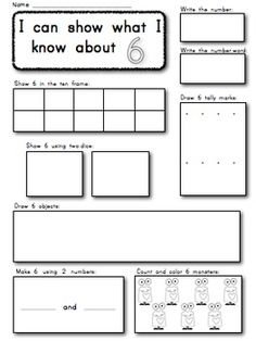 Kindergarten: Show and Make Math Numbers 1-10 Supports Common Core. $