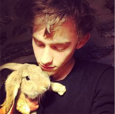 Who gave him a god damn bunny! Writing Pictures, Olly Alexander, Terms Of Endearment, Honey Bunny, Story Characters, Band Memes, Imagine Dragons, My Chemical Romance, Pulp Fiction