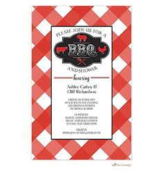 Barbecue Party Invitations- BBQ invitations NEW selections Spring 2017