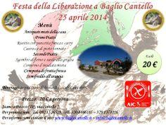 Ecco il Menù per festeggiare la Liberazione- a pranzo il 25 aprile 2014.