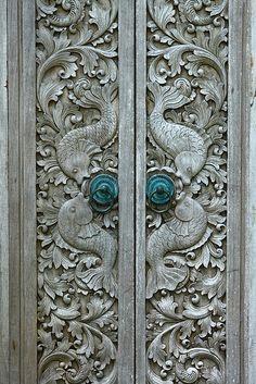 Intricate Carving, door in Bali by LifeInMacro | Thainlin Tay, via Flickr