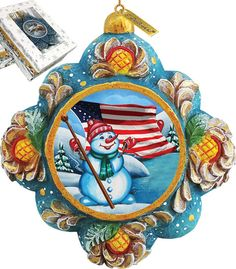 Features:  -Comes in a beautiful decorative gift box.  -Made in the USA.  Product Type: -Shaped ornament.  Theme: -Snowman.  Color: -Multi.  Country of Manufacture: -United States.  Primary Material: