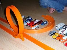 Hot wheels... don't forget the Hot wheels track!