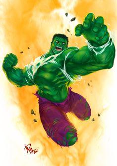 #Hulk #Fan #Art. (The Hulk) By: Mashachruah. ÅWESOMENESS!!!™