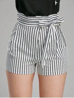 Prezzi e Sconti: high waisted striped mini shorts Instock ad Euro in clothingshorts Cute Summer Outfits, Short Outfits, Short Dresses, Cute Outfits, Belted Shorts, Mini Shorts, Striped Shorts, Summer Shorts, High Wasted Shorts Outfit