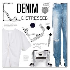 """Tear it Up: Distressed Denim"" by ansev ❤ liked on Polyvore featuring Front Row Shop, Tom Ford, Alexander Wang, Obsessive Compulsive Cosmetics, Lauren B. Beauty and distresseddenim"
