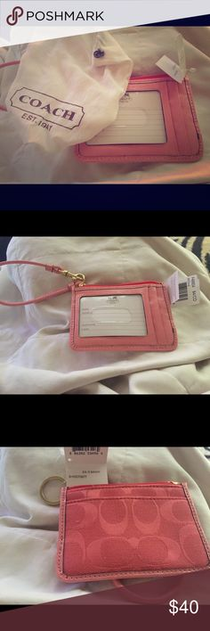 Coach wristlet wallet Never used - small coach wallet wristlet. Great for just the essentials Coach Bags Wallets