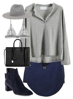 """Untitled #770"" by itskarinaaaaa ❤ liked on Polyvore featuring Yves Saint Laurent and Roger Vivier"