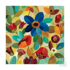Summer Floral II Giclee Print by Silvia Vassileva at Art.com, 15 size options