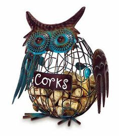 "10"" Green and Copper Patina Owl Bird Animal Wine Cork Caddy Holder CC Home Furnishings,http://www.amazon.com/dp/B00B4I7SP2/ref=cm_sw_r_pi_dp_kg7ztb1EMT7R5FHK"