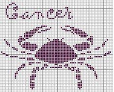 64 Grilles pour crochet - Le signe du cancer