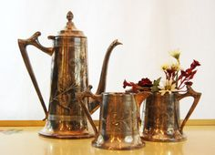 Vintage Sheffield Silver Plate Coffee Pot by TheEclecticInterior, $125.00