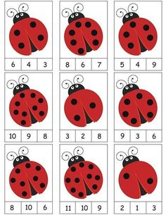 ladybug counting activity More on math and learning in general zentral-lernen.de Source by tinkerbel Counting Activities, Preschool Learning Activities, Preschool Activities, Space Activities, Math Games, Activity Games, Numbers Preschool, Preschool Letters, Kindergarten Math Worksheets