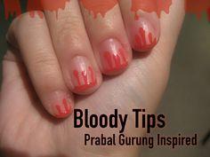 Prabal Gurung-inspired blood-drop manicure