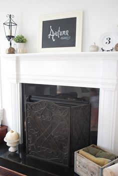 ways to cover fireplace insert