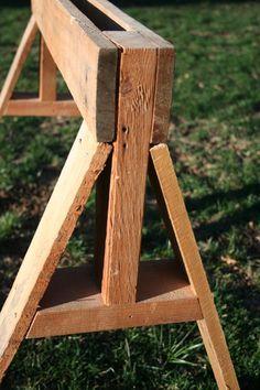 DIY козлы из поддона древесины