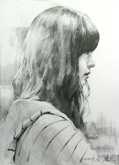 Steps for Portrait Drawing with Charcoal - Drawing On Demand Pencil Portrait Drawing, Portrait Sketches, Portrait Art, Pencil Art, Drawing Sketches, Pencil Drawings, Painting & Drawing, Academic Drawing, Sketches Of People
