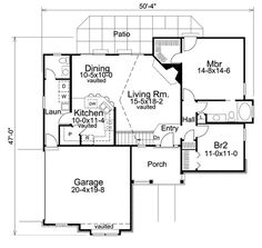 Country Ranch Traditional House Plan 86983 Level One