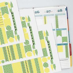 August Vintage Wallpaper Coordinating Planner Sticker Half Kit // Erin Condren Colors