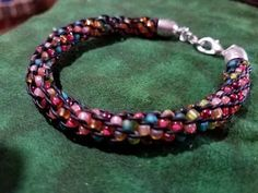 An inside beaded kumihimo bracelet from a pattern I found on youtube (CSL Designs).
