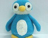 Blue Penguin 6.9 - Finished Handmade Amigurumi crochet doll Home decor birthday Baby shower gift