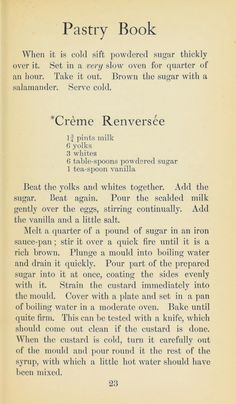The pudding and pastry book Retro Recipes, Old Recipes, Vintage Recipes, Cookbook Recipes, Low Carb Recipes, Baking Recipes, Vegan Recipes, Dessert Recipes, Old Fashioned Recipes