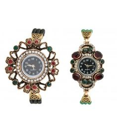 Lucky Infra Women Analog Watch (Combo of 2)