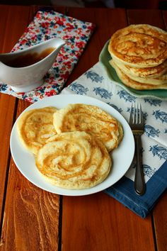 Brown butter cinnamon rum pancakes. The perfect way to start your weekend!