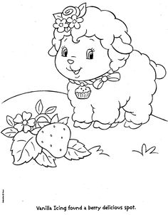 Vanilla Icing Strawberry Shortcake Coloring Pages