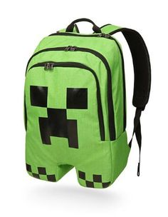 Minecraft Creeper Face School Bag/Backpack