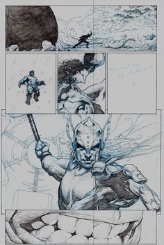 Check out these exclusive preview sketches of the upcoming AVENGERS (2012) #1 by Jerome Opeña!