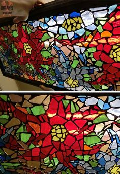 How To Make a Mosaic Glass Light!!