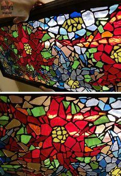 How To Make a Mosaic Glass Light!!