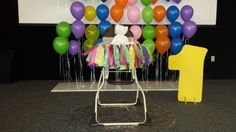Birthday girl's stage at the Candy Land First Birthday Party