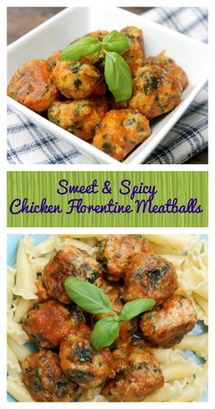 Want to eat healthy but don't want to sacrifice flavor? Try this Sweet & Spicy Baked Chicken Florentine Meatballs Recipe