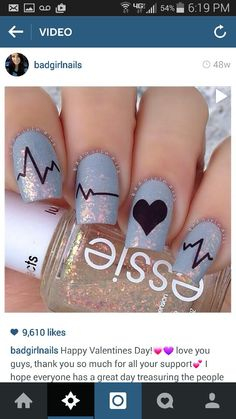 Cute nails for anyone in the medical field!