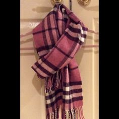 Burberry Scarf Very warm, 100% lambswool scarf in traditional Nova Check pattern. Color palette is muted and beautiful. This rare scarf is in excellent, like-new condition.  Gift bag with ribbon included (see pic). Burberry Accessories Scarves & Wraps