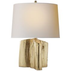 Visual Comfort Thomas OBrien Carmel 1 Light Table Lamp in Gild with Natural Paper Shade Visual Comfort Lighting, Thomas O'brien, Circa Lighting, Bedside Table Lamps, Burke Decor, Light Table, One Light, Shades, Plaster